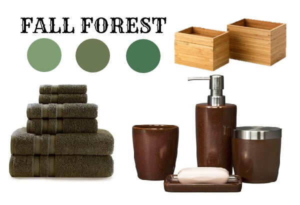 Sheknows spacelifts 10 fall bathrooms under 500 for Forest bathroom ideas