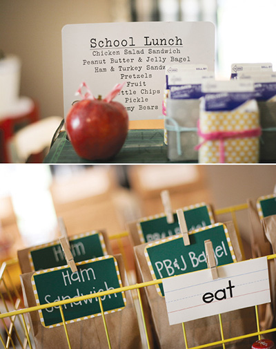 back to school party lunch sacks