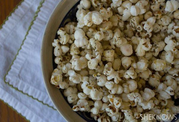 Sweet and savory homemade popcorn