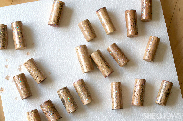 Paint the corks gold