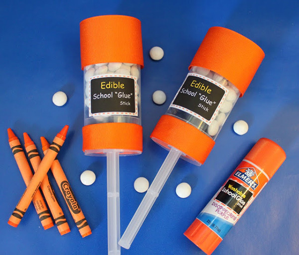 Edible glue sticks