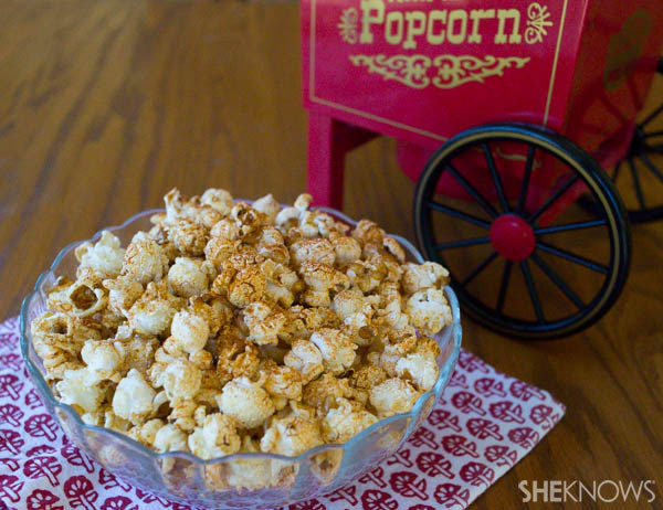 Smoky bacon popcorn