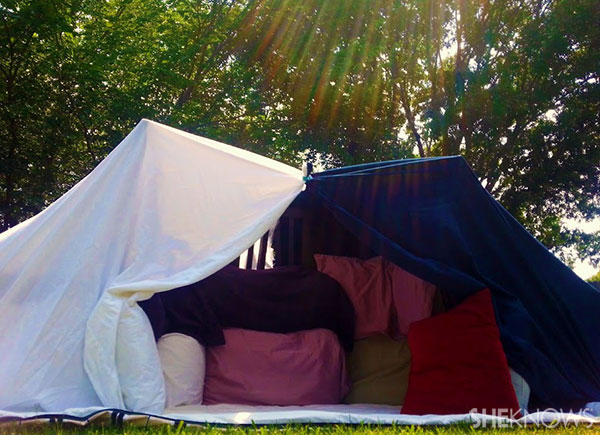 How To Build A Backyard Pillow Fort