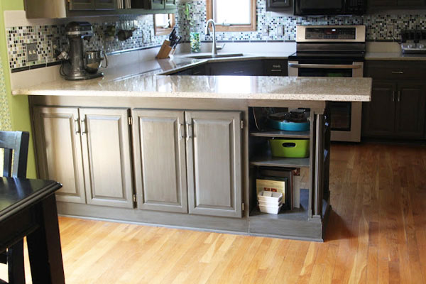 Countertop Extension with Extra Open Shelves - Sugar Bee Crafts