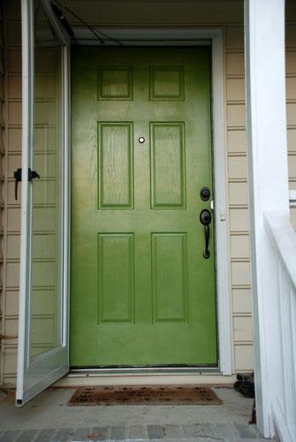 Lively Green Door