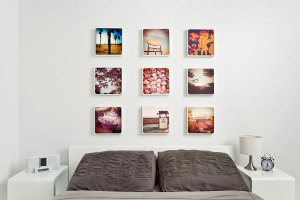 Photos printed on canvas