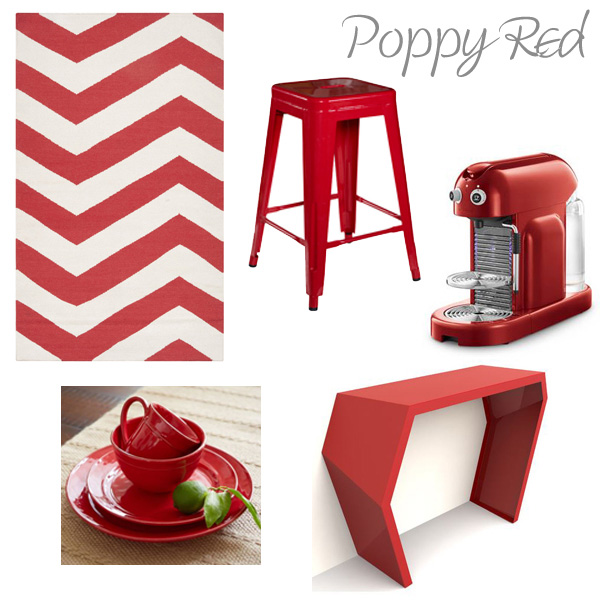 Items around the home featured in red