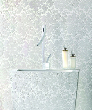 White lace wall papper