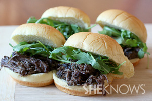 Slow cooker pot roast sliders