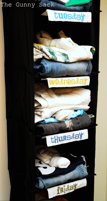 Wardrobe organizer- back to school