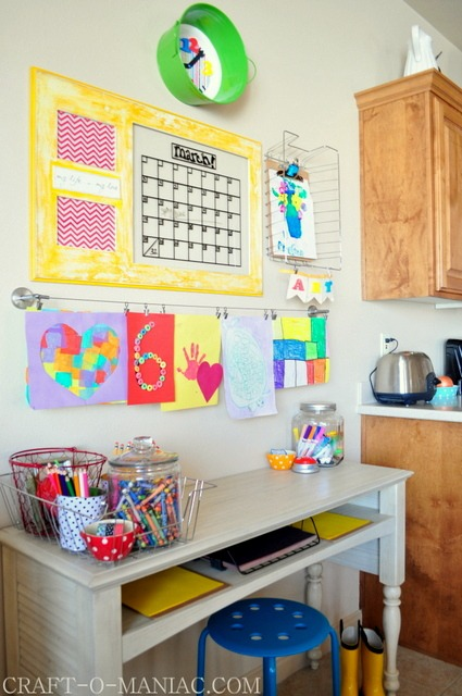homework organization area- back to school