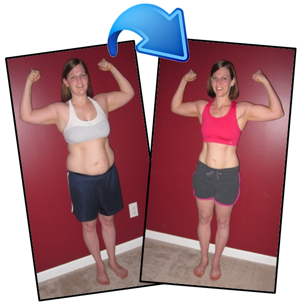 Becky: Bootcamp before and after photo