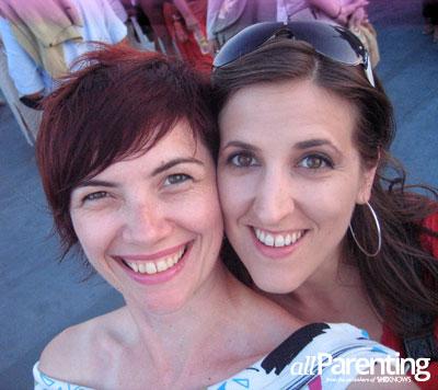 Best friends- fled Bosnia- Sabina and Dana