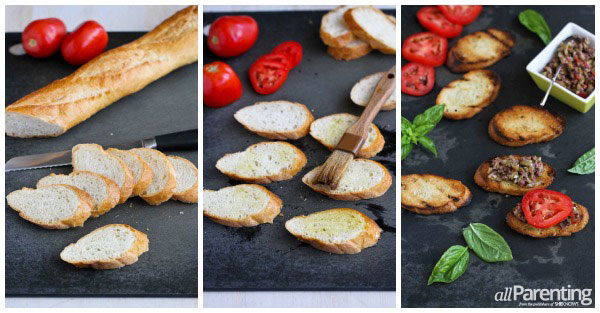 Grilled crostini collage