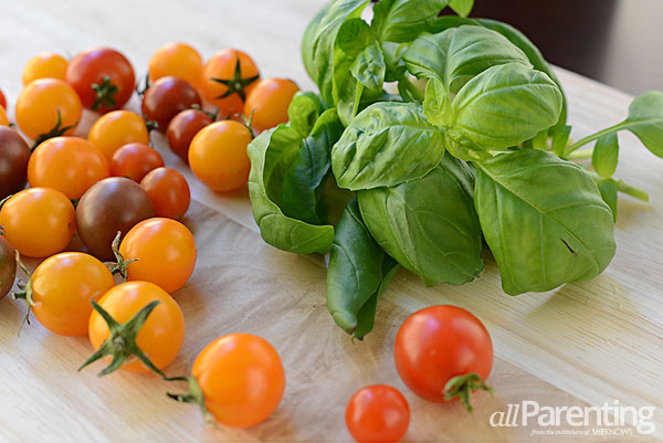 allParenting Panzanella Caprese salad ingredients