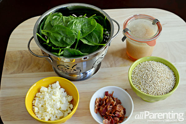 allParenting Quinoa salad ingredients