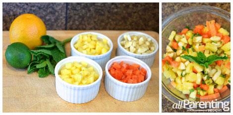 Tropical fruit salsa ingredients