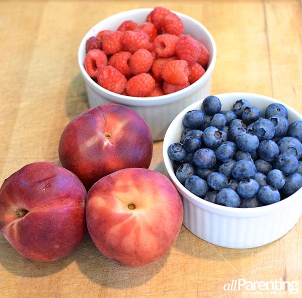 Prepared fruit for crumblers