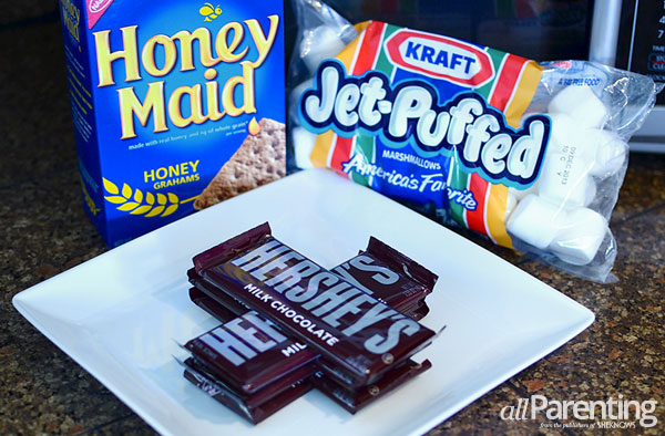 allParenting Layered ice cream s'mores ingredients