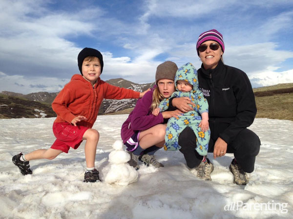 Family at Independence Pass