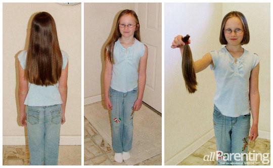 Kelli Kuhn hair donation