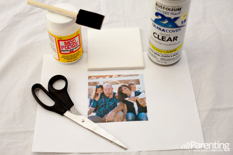 DIY photo coasters materials