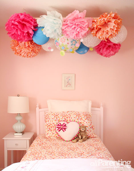 diy pom pom chandelier. Black Bedroom Furniture Sets. Home Design Ideas