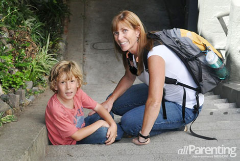 Kathy Taylor and son Nolan