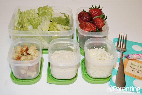 School lunch ideas- Caesar salad