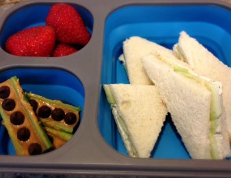 Cream cheese & cucumber sandwich