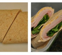 school lunch ideas- Turkey and cheese wraps