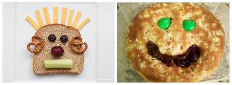 School lunch ideas- silly faces collage