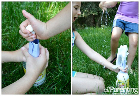 Mentos volcano science experiment