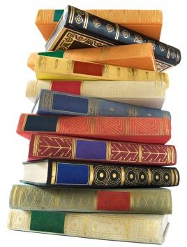 stack of vintage novels
