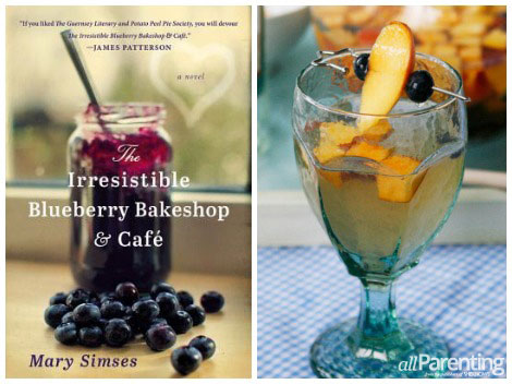 The Irresistible Bakeshop & Blueberry Cafe and Blueberry Peach Sangria