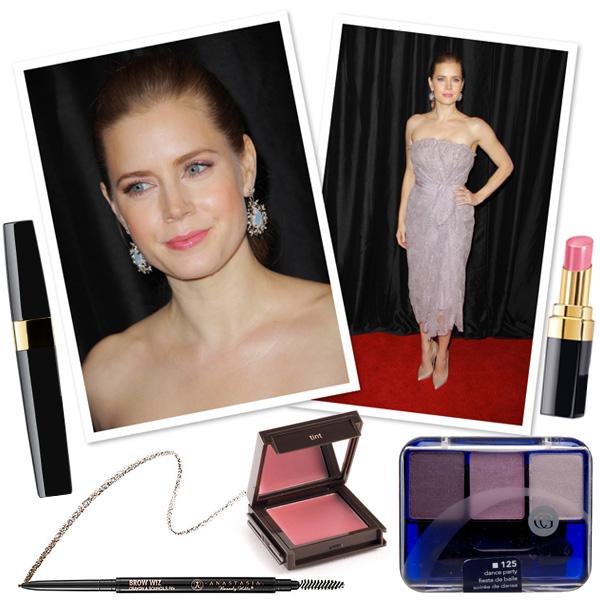 Get Amy Adam's Pretty in pink makeup look