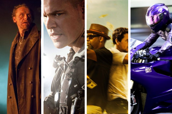 August movie releases - The World's End, Elysium, 2 Guns and Kick Ass 2