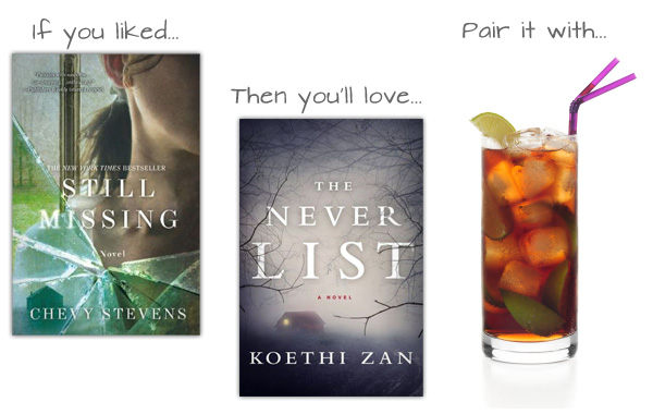 If you liked Still Missing then you'll love The Never List and pair it with a boozy Dark Rum and Citrus Sipper.