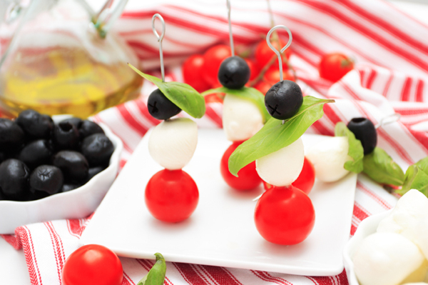 Easy Italian skewer appetizer