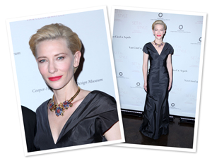 Cate Blanchett's red lipstick look