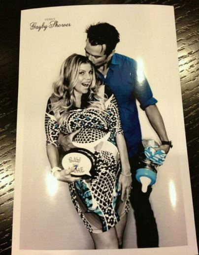 Pregnant Fergie and Josh Duhamel at baby