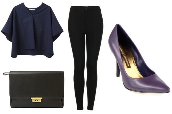 Navy and black for a girls' night out