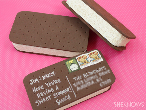 Mailable ice cream sandwich | SheKnows.com