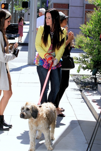 Kyle Richards with dog