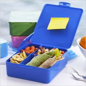 Reusable, BPA-free plastic bento boxes