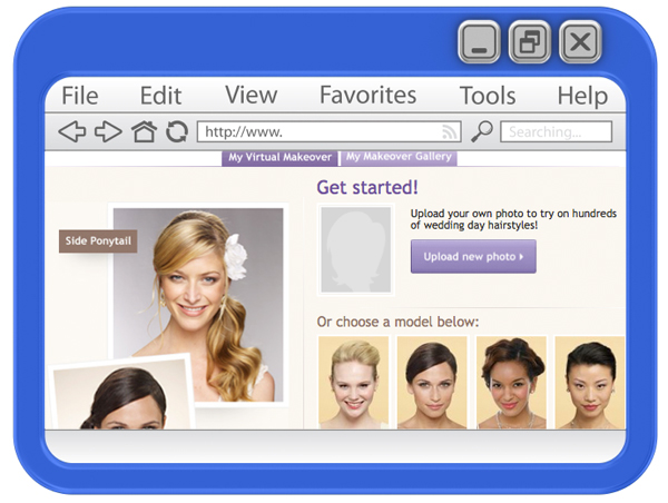Wedding day virtual hair makeover