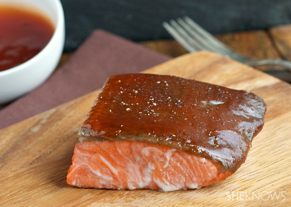 Sweet and sour glazed salmon