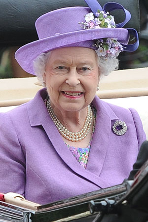 Queen Elizabeth waiting for royal baby