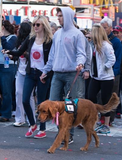 Emma Stone with dog