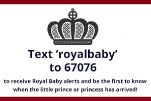 Royal Baby text